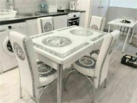 💥💥FLASH SALE🥰✨ ON EXTENDABLE DINING TABLE AND 6 CHAIRS WITH DELIVERY OPTIONS
