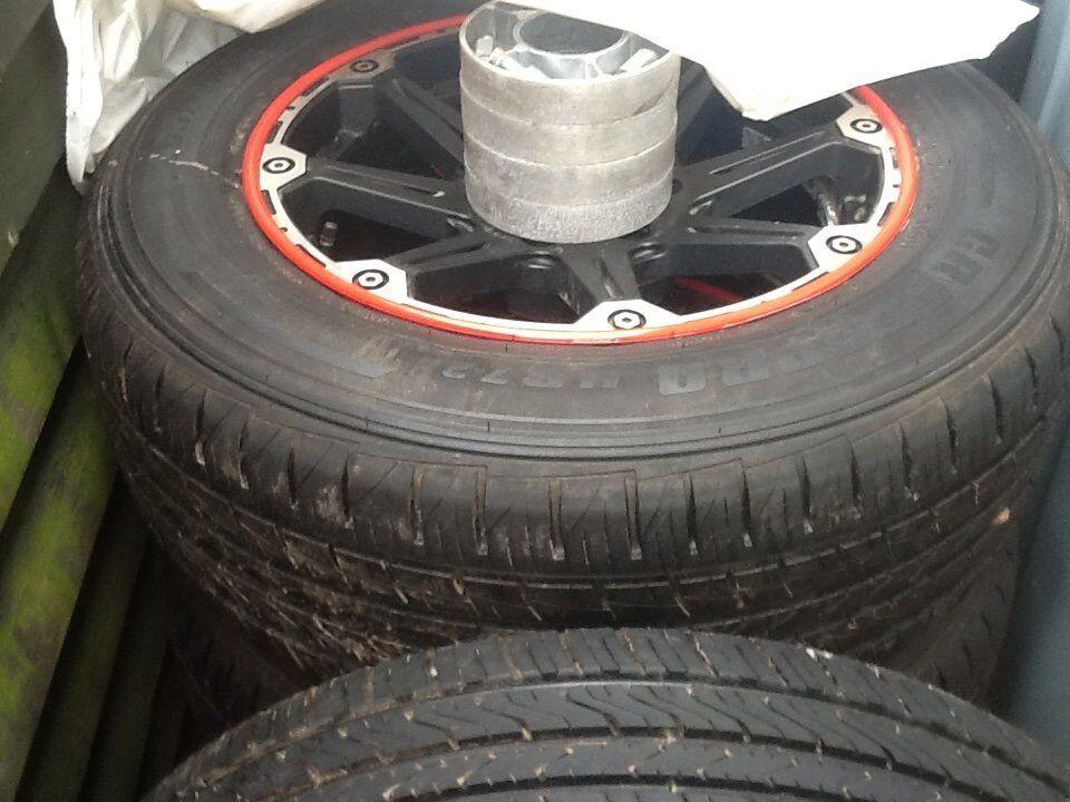 Alloy wheels tyres.