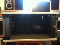 """19"""" 6u Rack cabinet with locking glass door"""