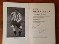 Football Autobiography Len Shackleton signed ...