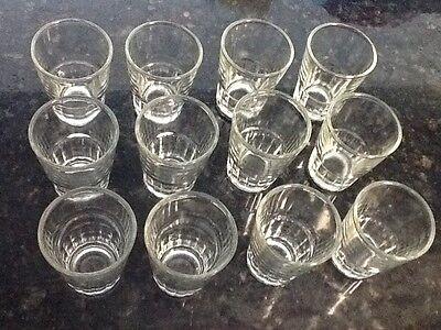 Tequila Shot Glasses (12 Shot Glasses Glass Barware Shots Vodka Tequila 1.5 oz Dozen Doz Lot of)