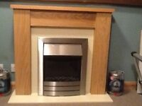 fireplace surround with electric fire