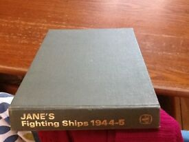 JANE'S FIGHTING SHIPS 1944-5 REPRINT 1971 1ST EDITION.