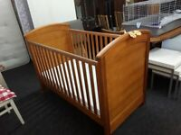 Solid wood Mama's & Papa's cot bed LOW COST MOVES 2nd Hand Furniture STALYBRIDGE SK15 3DN