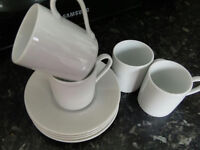 COFFEE CUPS, EXPRESSO, WHITE, SET, NEW, PEACEHAVEN, £1