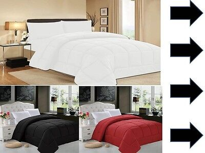 Elegant Comfort Goose Down Alternative Luxurious Solid Comfo