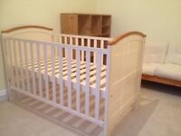 Henley Cotbed in Cream with Oak Trim, Cot Bed, Only at Toys R Us converts to BED
