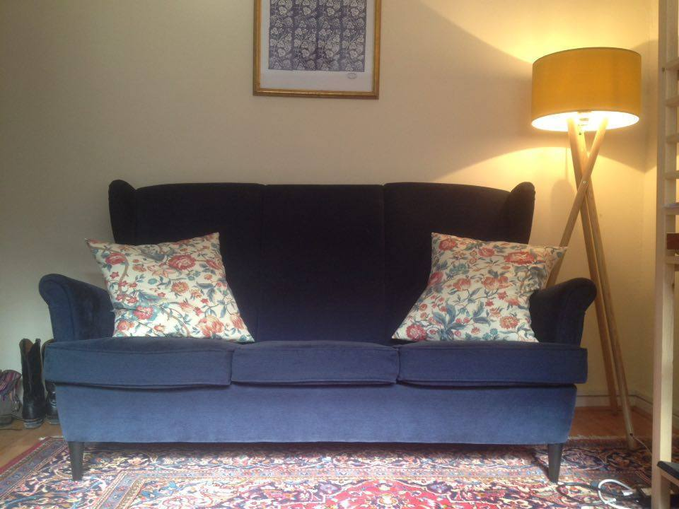 ikea strandmon vellinge dark blue sofa in excellent condition in toxteth merseyside gumtree. Black Bedroom Furniture Sets. Home Design Ideas