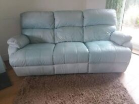 3 seater leather recliner sofas