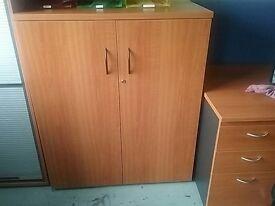 Cherry wood 2 door cupboards