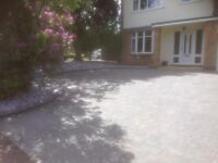 Drive ways , block paving , antique rumble , tarmac , stone any more .