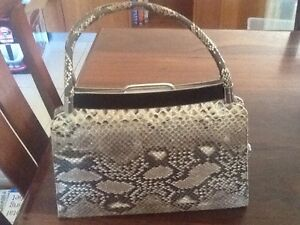 Vintage - Python skin handbag Mosman Park Cottesloe Area Preview