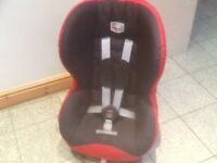 Britax Prince slim group 1 car seat for 9mths to 4yrs(9kg-18kg)ideal for small cars&coupes-washed