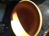 Large teak Caesar salad bowl