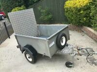 Factory built trailer + ramp/spare wheel