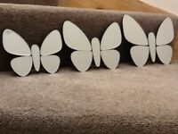 Butterfly mirrors-set of three.