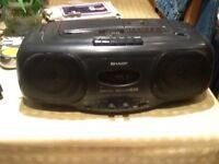 Sharp CD/Radio/Tape player