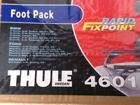 Thule foot pack 4601 for BMW 3 series & Mondeo plus a pair of Thule square bars.