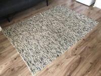 Large living room rug white monochrome