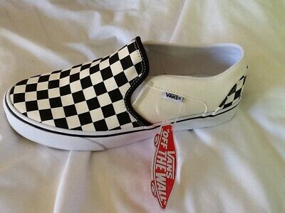 NEW Black And White Checkerboard Classic Slip On Vans LEFT SHOE ONLY repurpose