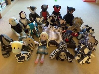 Handmade Memory/ Keepsake Animals And Bears Made From Loved Ones Special