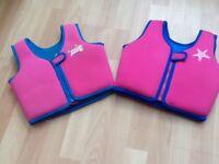 Zoggs pink swim jackets age 4-5yrs