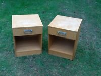Pair Bedside Cabinets
