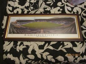 BIRMINGHAM CITY ST ANDREWS FOOTBALL GROUND PICTURE IN A VERY NICE FRAME