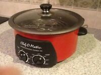 Chef o matic cooker in red colour