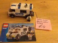 LEGO CITY POLICE VAN, X2 men. NO 7245