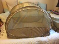 LARGE SAMSONITE POP UP TRAVEL COT