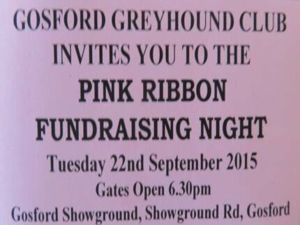 Pink Ribbon Greyhound Race Meeting Fundraiser Lake Haven Wyong Area Preview