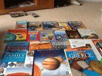 Children's books including dinosaurs