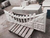 Concrete plinths / fancy concrete Fencing / Rockface