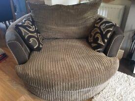 Brown Circle (Spinning) Sofa