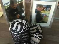 Signed Ricky Hatton boxing gloves