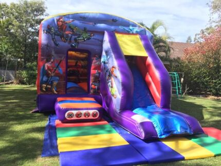 $180 SuperHero Jumping Castle with slide for hire