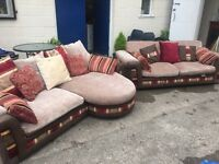STUNNING LARGE LUXURIOUS PAIR OF SOFA'S VERY COMFORTABLE.