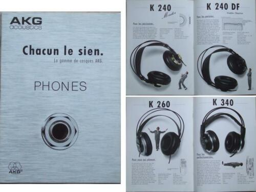 AKG HEADPHONES BROCHURE (1985)