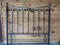 Wrought Iron Black Headboard for Double Bed