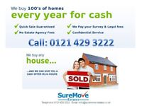 CASH FOR YOUR PROPERTY! CALL 0121 429 3222 Get your FREE guaranteed cash offer within minutes!