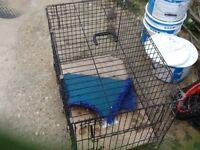 Metal dog cage. Medium size