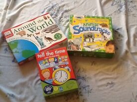 Children's Games - Sound Lotto, Tell the Time & Around the World