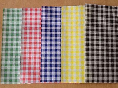 50 x Sheets MIX COLOUR Gingham Duplex Paper Food Wrap Grease-proof Basket Liner Food Basket Liner