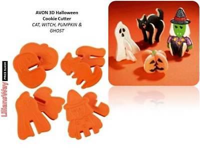 AVON HALLOWEEN 3D Cookie Cutters~Witch, Ghost Pumpkin Cat~DIY 3D GOTH Cookies - 3d Halloween Cookies