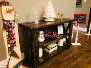 Custom Rustic Hall Tables and Sofa Tables