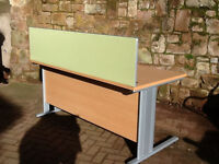 Office desk with screen & chair great condition