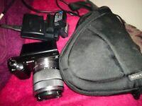 Sony Alpha NEX-5N 14.2MP Digital Camera With 18-55mm Lens - 3 Batteries - Case