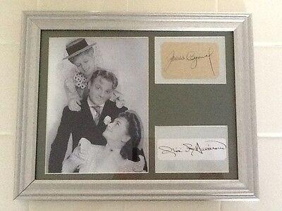 James Cagney Olivia De Havilland SIGNED 12x15 Framed/Matted Strawberry Blonde - $99.00