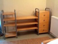 Flexible shelving.storage unit with drawers